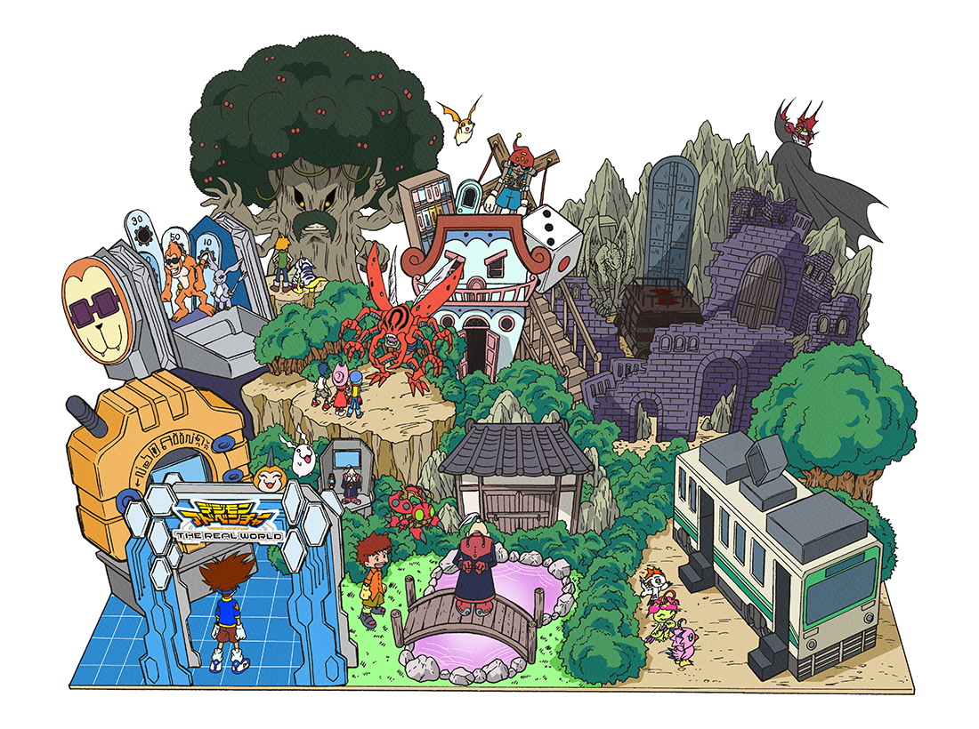 Digimon adventure the real world map exhibition info and souvenirs image thumbnail custom gumiabroncs Choice Image